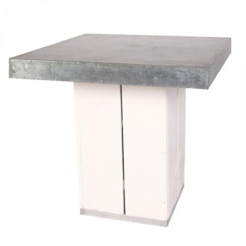 Kolom tafel laag wit