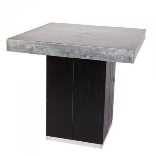 Kolom tafel laag zwart